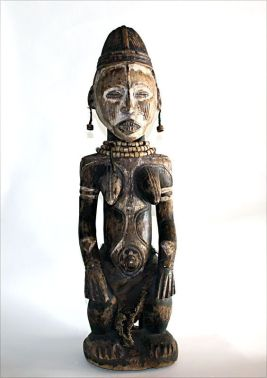 Idoma Seated Female Figure, Africa Origin: Nigeria Circa: 19 th Century AD to 20th Century AD