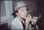 Rene Ricard Smoking Crack, NYC