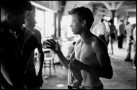 USA. Coney Island, NY. 1959. Brooklyn Gang. Benji in bathhouse.