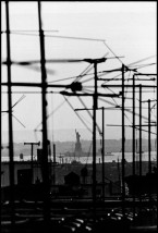 USA. Brooklyn, NY. 1959. Brooklyn Gang. The Statue of Liberty from a rooftop on Seventeenth Street between Eighth and Ninth avenues.