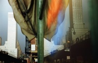 Buildings on Third Avenue, New York reflected in a shop window, 1952. (Photo by Ernst Haas/Hulton Archive/Getty Images)